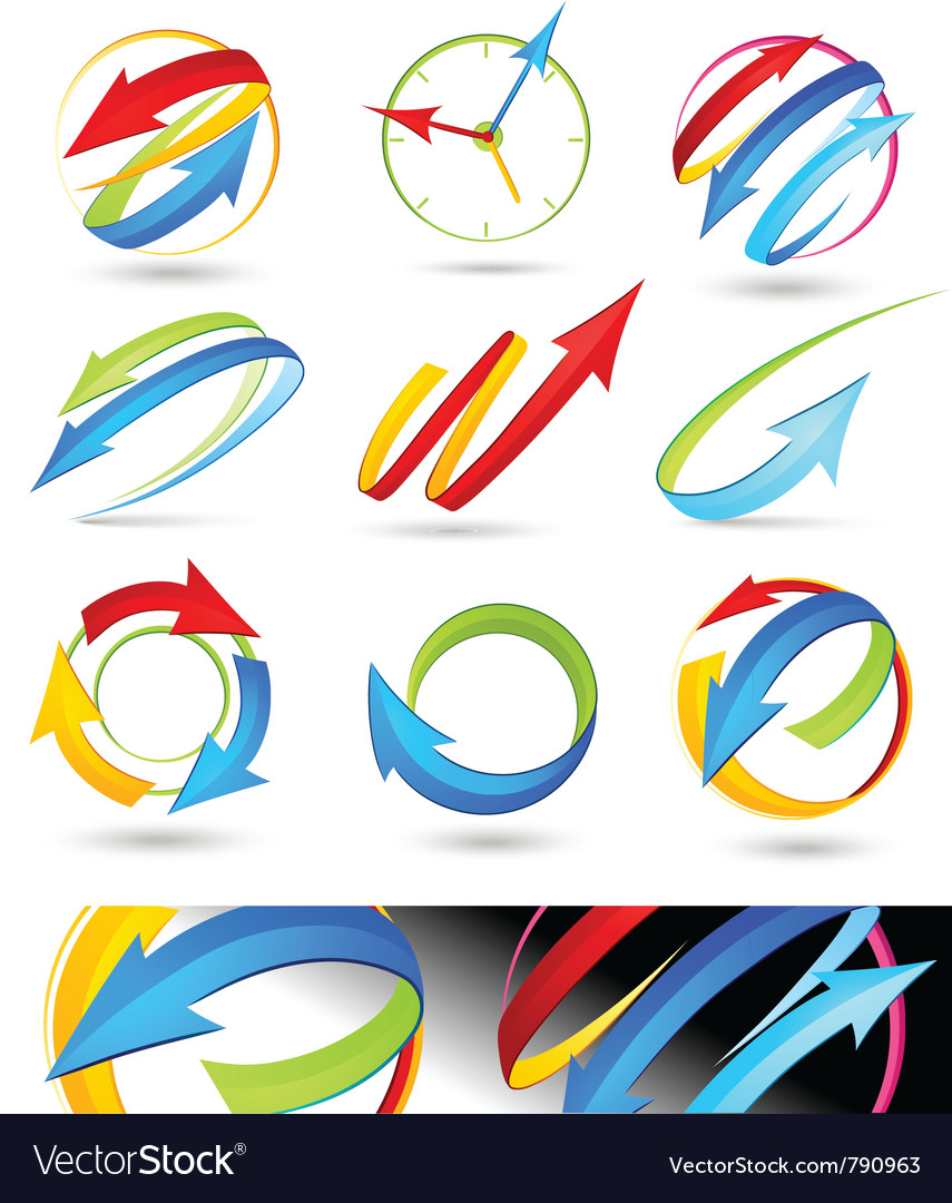 Collection of colour arrows vector | Price: 3 Credit (USD $3)