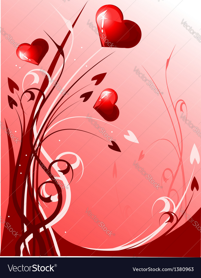 Decoration with hearts vector | Price: 1 Credit (USD $1)