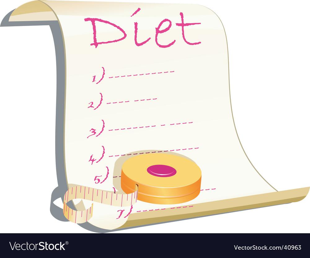 Diet concept illustration vector | Price: 1 Credit (USD $1)