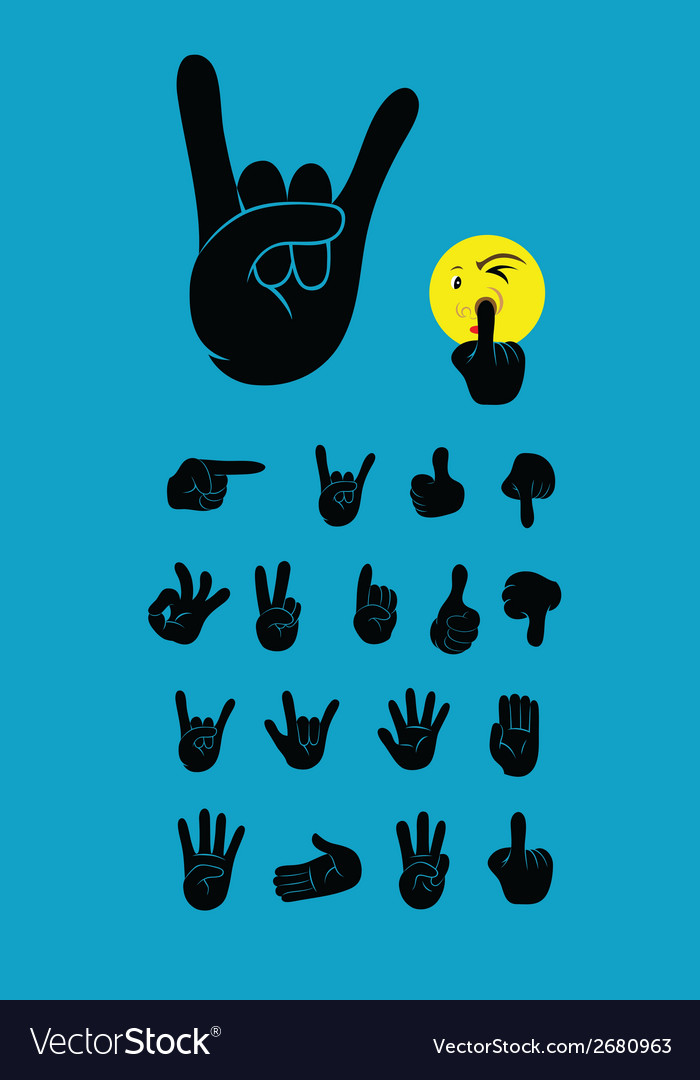 Finger silhouette vector | Price: 1 Credit (USD $1)