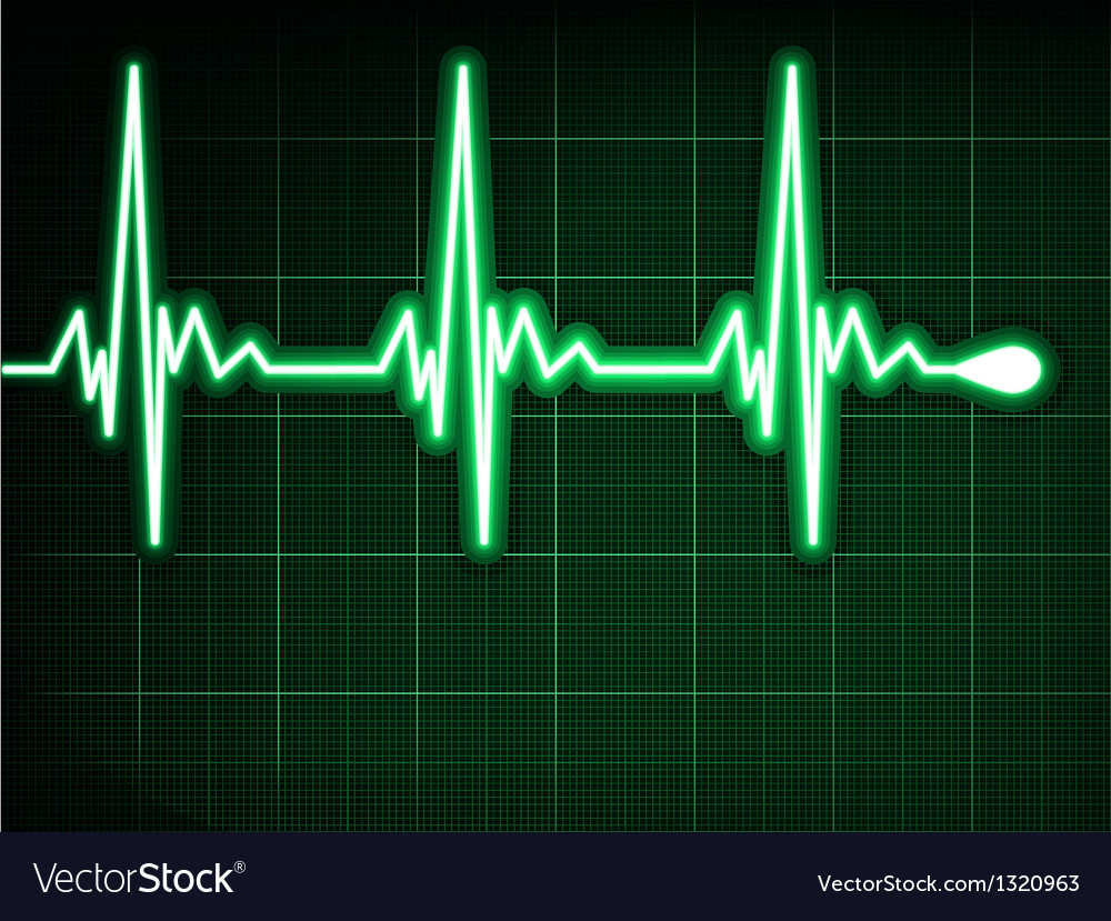 Green heart beat ekg graph eps 8 vector | Price: 1 Credit (USD $1)