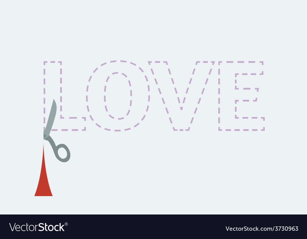 Love cutout vector | Price: 1 Credit (USD $1)