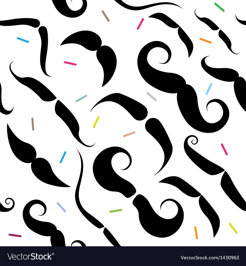 Mustache seamless pattern vector | Price: 1 Credit (USD $1)