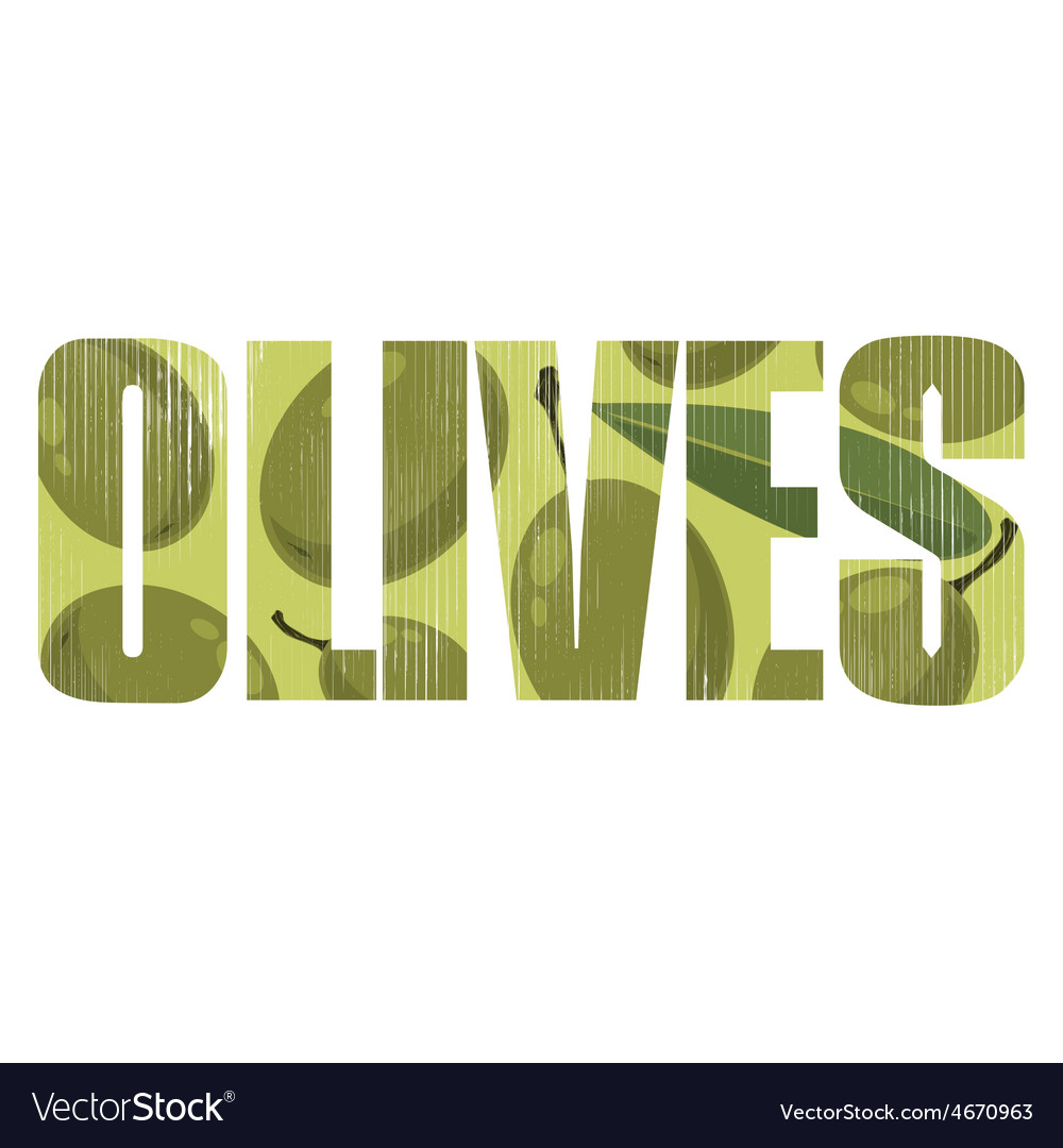 Olives sign vector | Price: 1 Credit (USD $1)