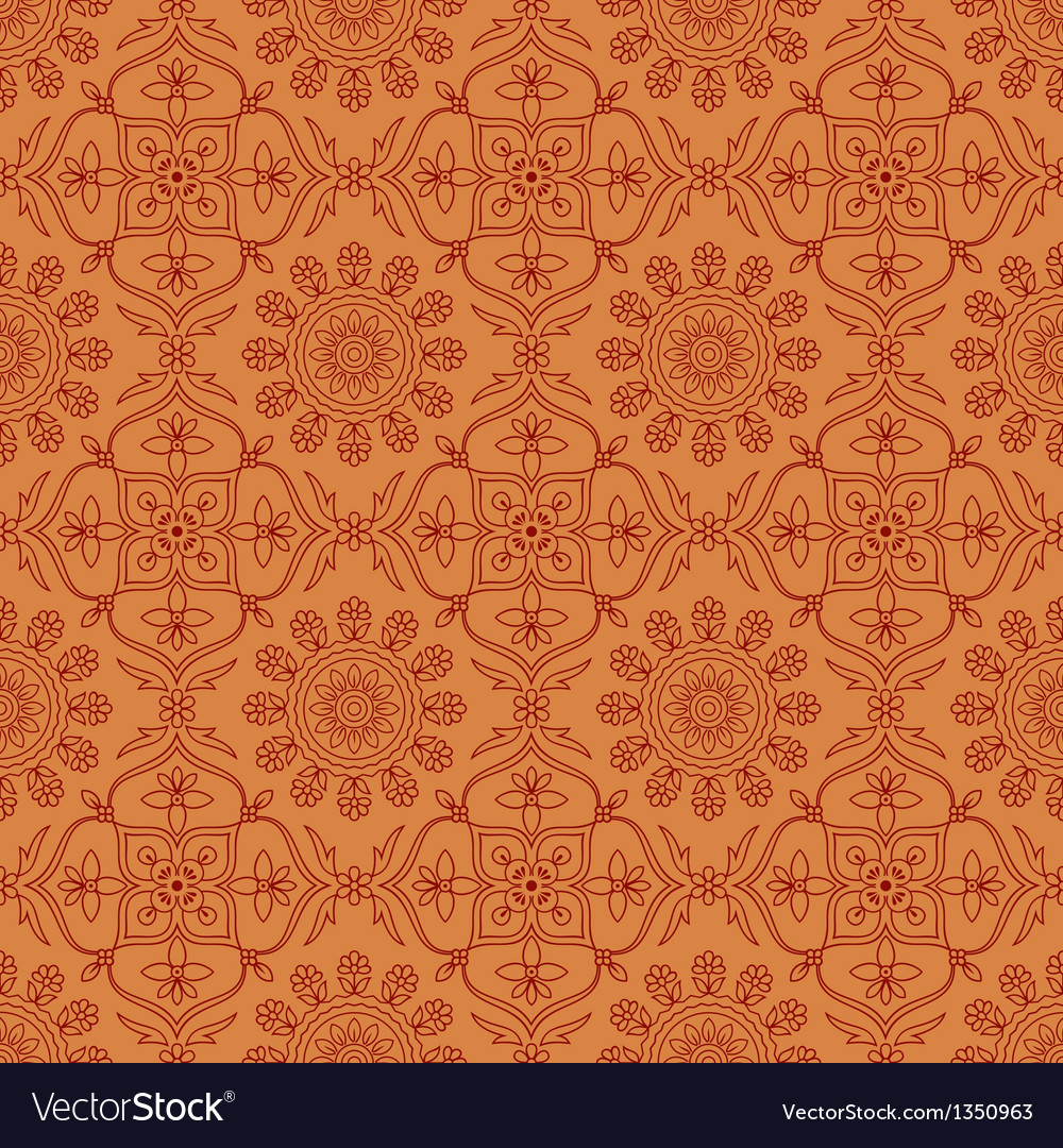 Seamless pattern indian ornament vector | Price: 1 Credit (USD $1)