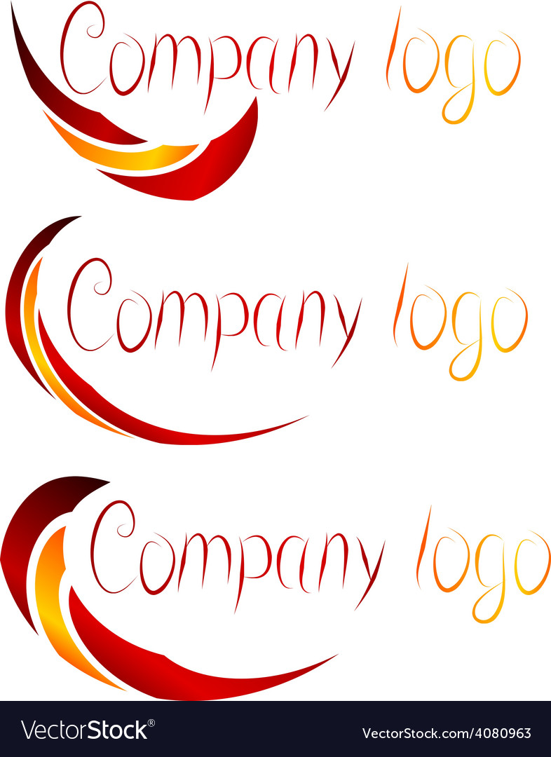 Set of company logos vector | Price: 1 Credit (USD $1)