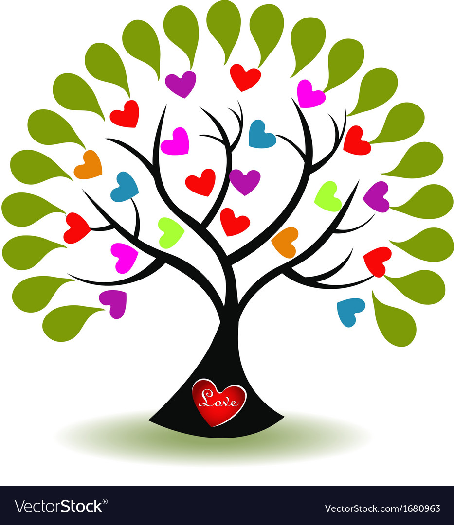Tree of love logo vector | Price: 1 Credit (USD $1)
