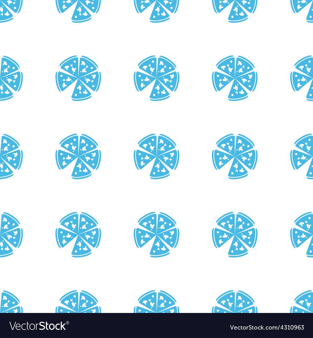 Unique pizza seamless pattern vector | Price: 1 Credit (USD $1)