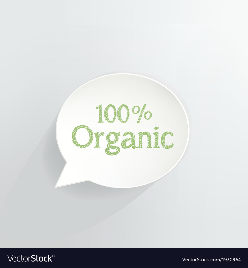 100 percent organic vector | Price: 1 Credit (USD $1)