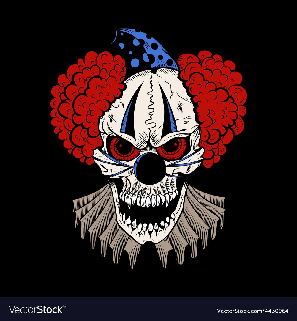 Cartoon evil clown vector | Price: 3 Credit (USD $3)