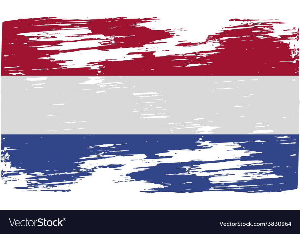 Flag of netherlands with old texture vector | Price: 1 Credit (USD $1)