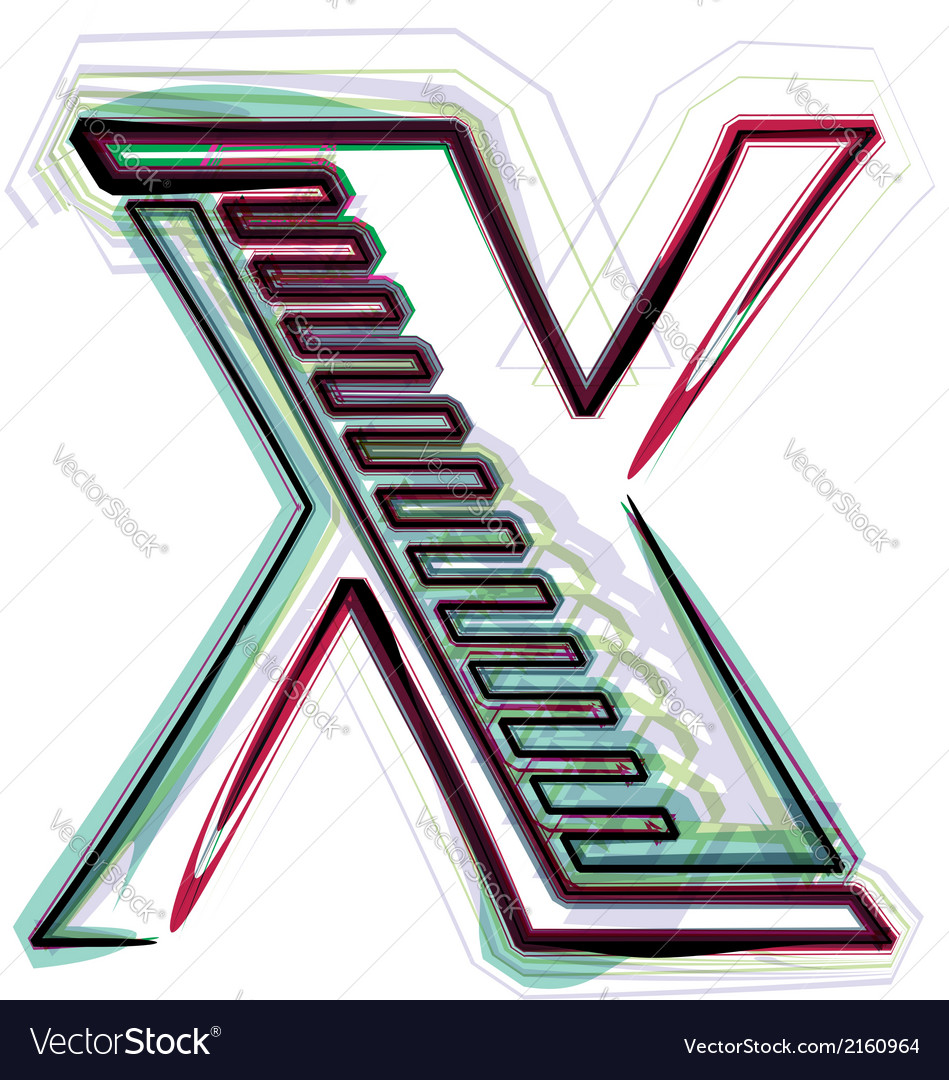 Font letter x vector | Price: 1 Credit (USD $1)