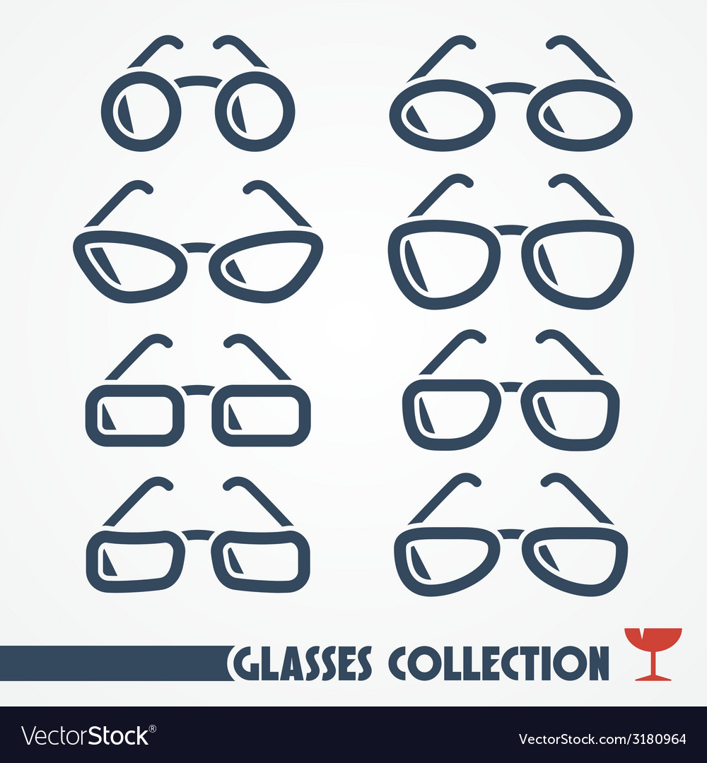 Glasses icons vector | Price: 1 Credit (USD $1)