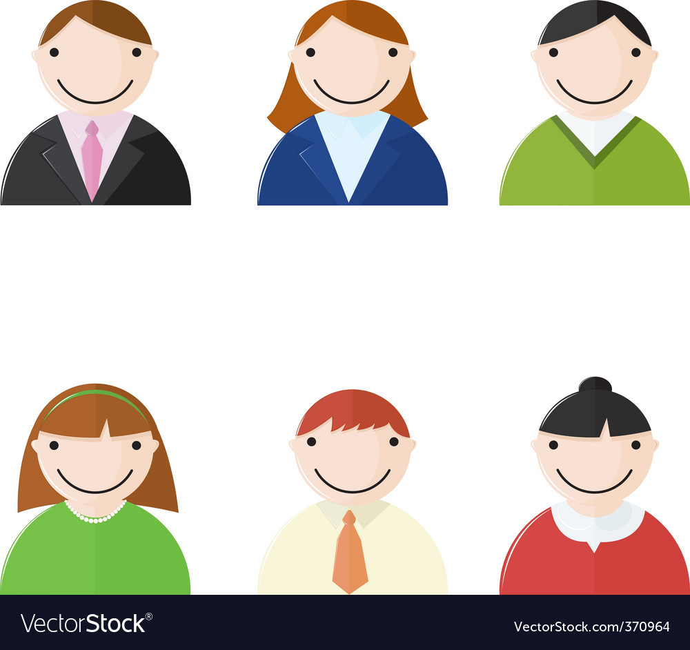 Office people icons vector | Price: 1 Credit (USD $1)