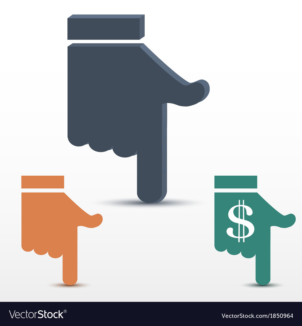 Pointer target hand with fingers extended vector | Price: 1 Credit (USD $1)