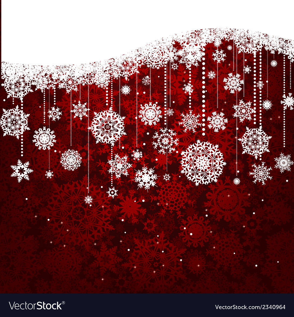 Red card with christmas snowflakes eps 8 vector | Price: 1 Credit (USD $1)