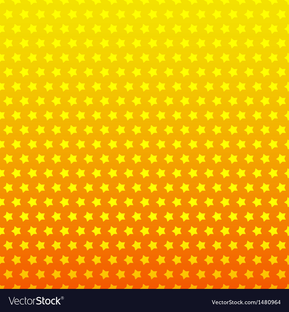 Star seamless background yellow and orange color vector | Price: 1 Credit (USD $1)