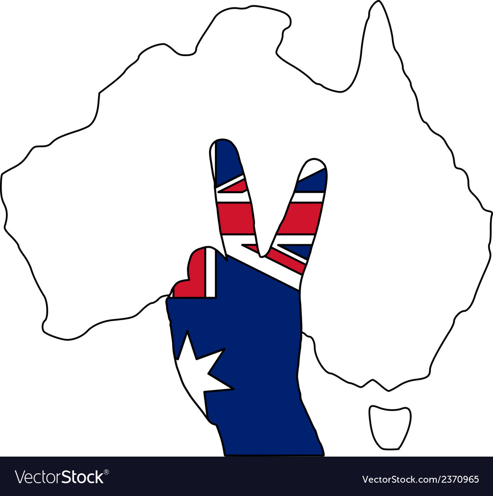 Australian finger signal vector | Price: 1 Credit (USD $1)
