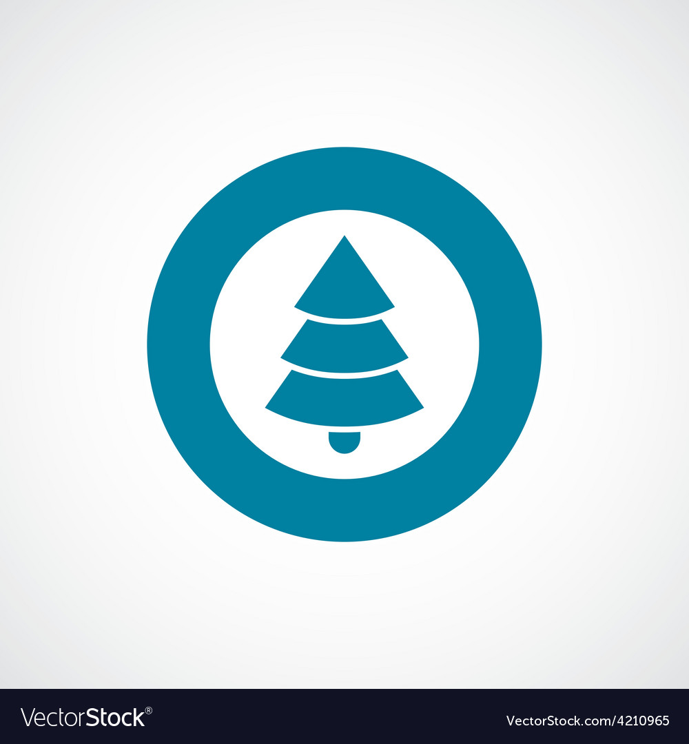 Christmas tree icon bold blue circle border vector | Price: 1 Credit (USD $1)