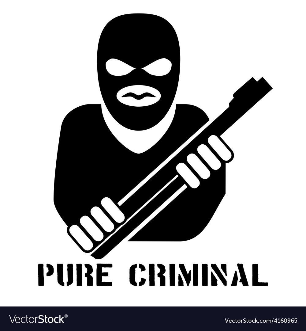 Criminal person logo vector | Price: 1 Credit (USD $1)