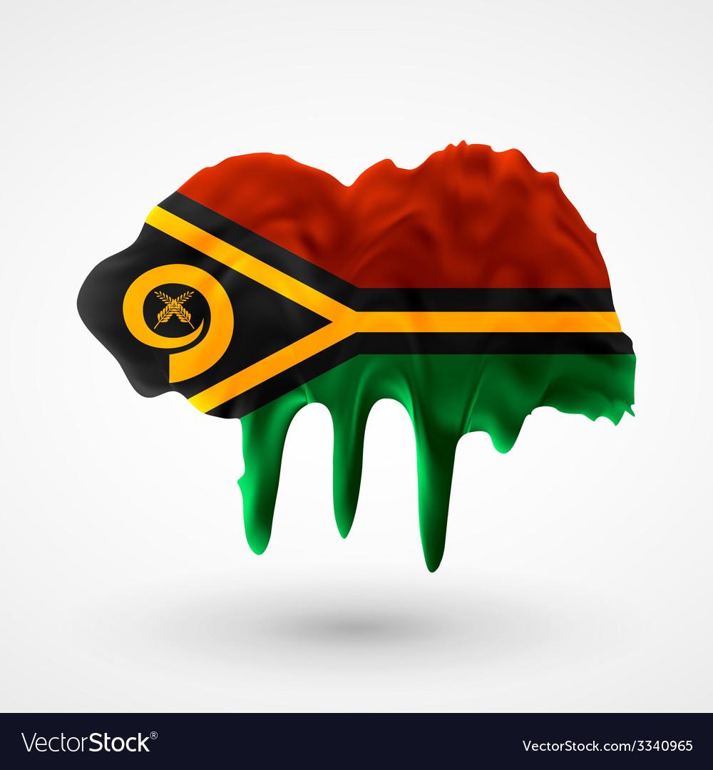 Flag of vanuatu painted colors vector   Price: 1 Credit (USD $1)