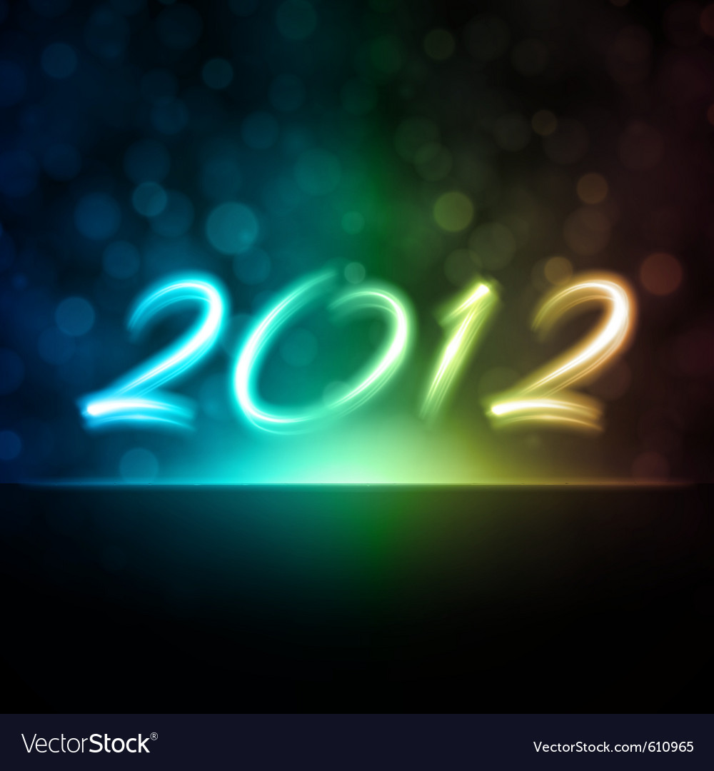 Happy new year 2012 message vector | Price: 1 Credit (USD $1)