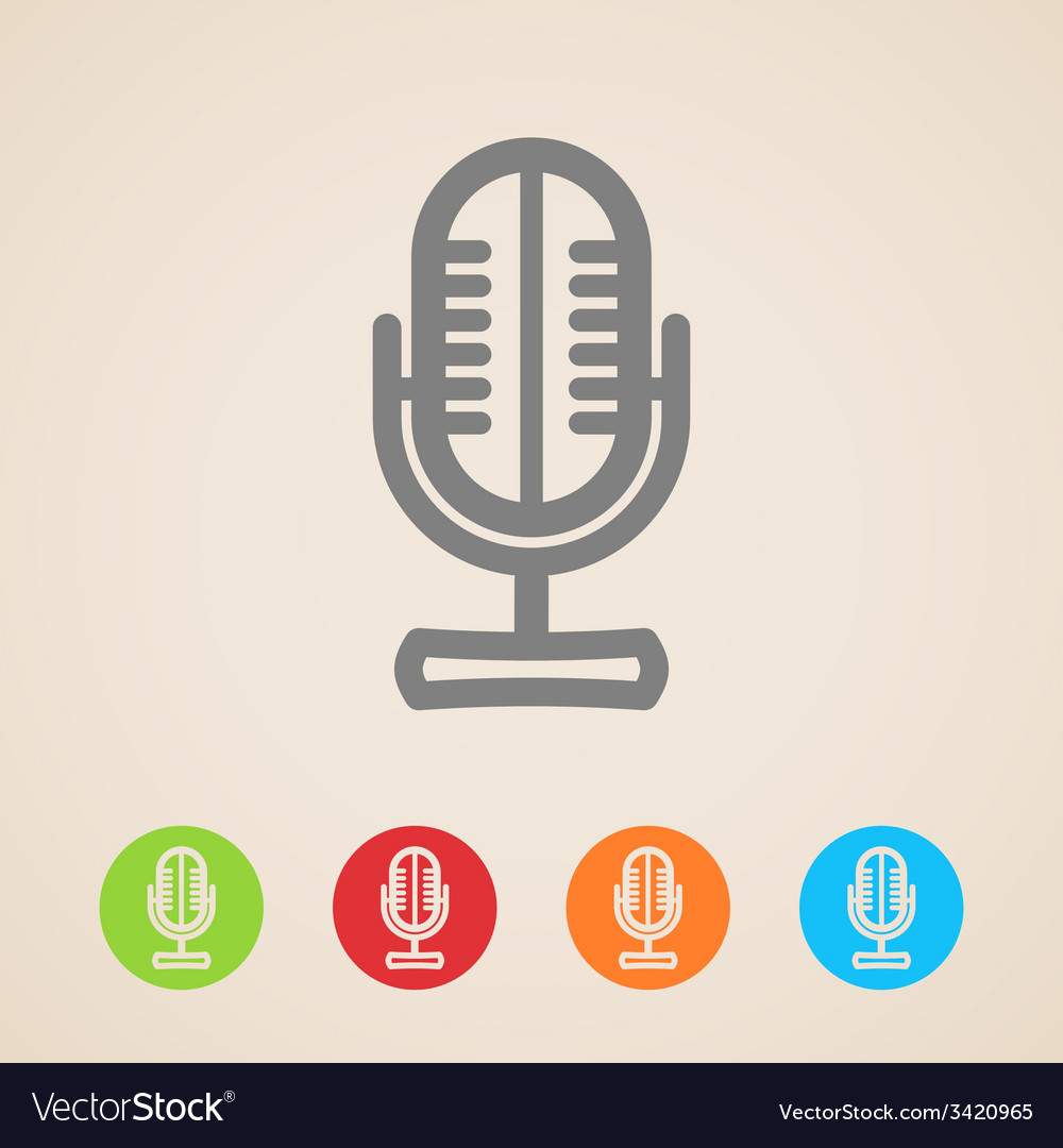 Microphone icons vector | Price: 1 Credit (USD $1)