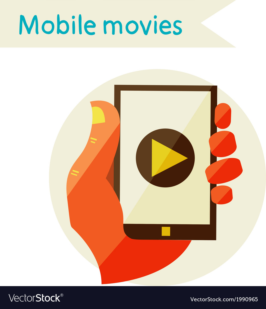 Mobile movies vector | Price: 1 Credit (USD $1)