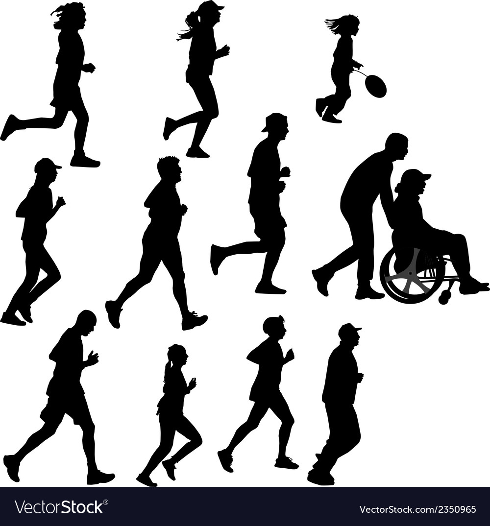 Paraplegic person as a runner vector | Price: 1 Credit (USD $1)