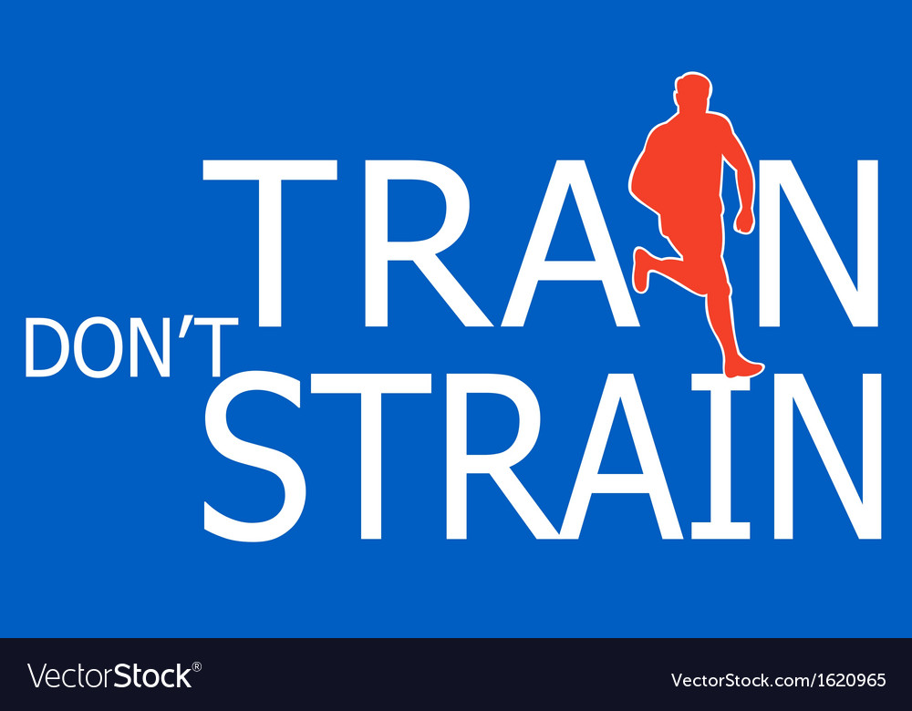 Runner silhouette running train dont strain vector | Price: 1 Credit (USD $1)