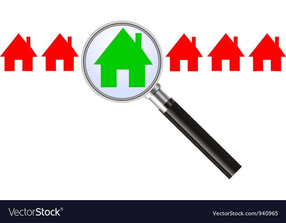 Searching for a house vector | Price: 1 Credit (USD $1)