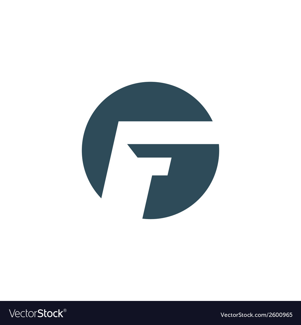 Sign of the letter f vector | Price: 1 Credit (USD $1)