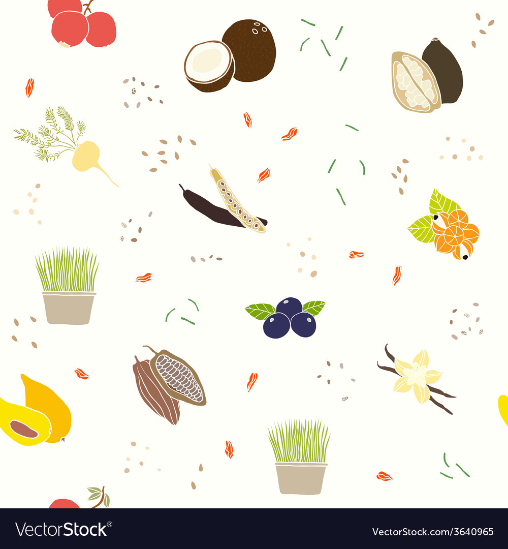 Superfoods pattern vector | Price: 1 Credit (USD $1)