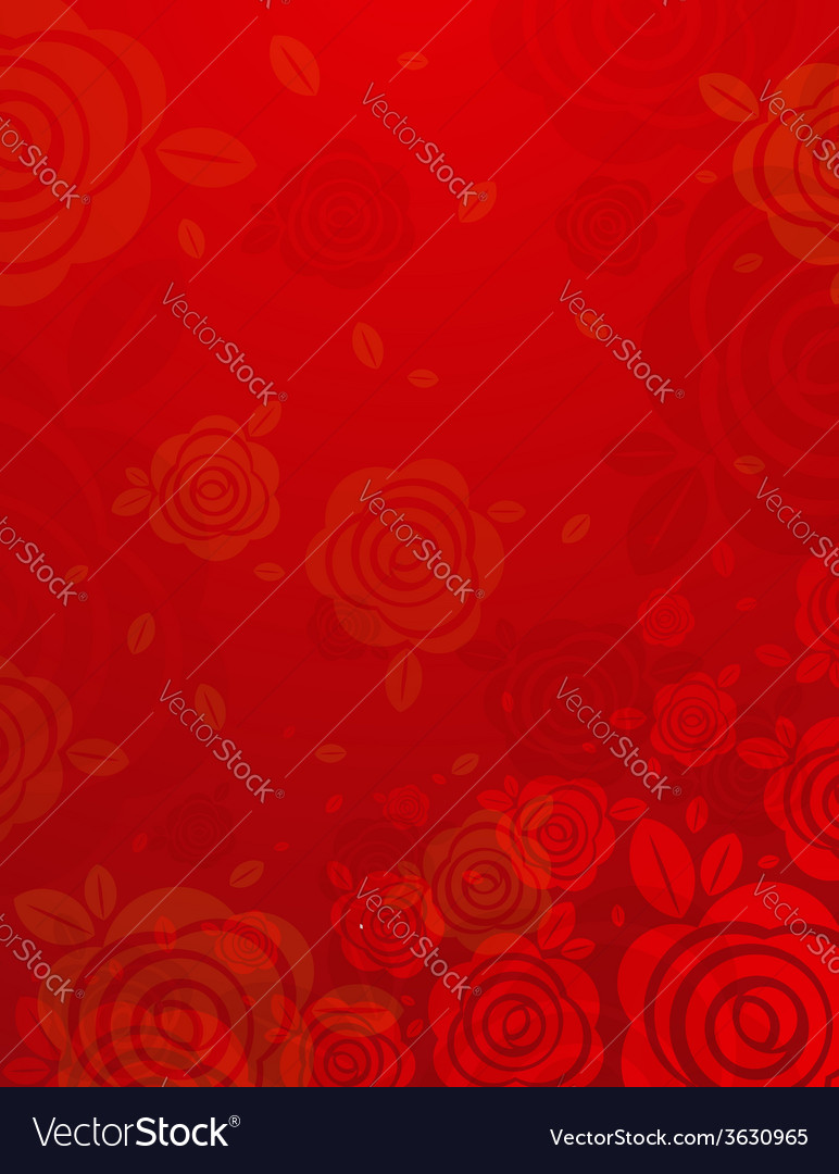 Valentine red background with many roses vector | Price: 1 Credit (USD $1)