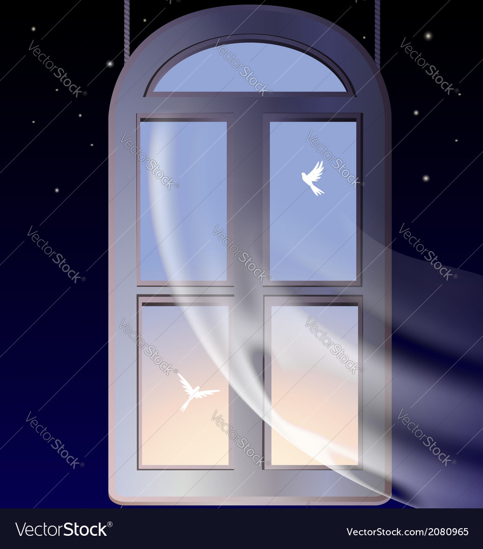 Window in the morning vector | Price: 1 Credit (USD $1)