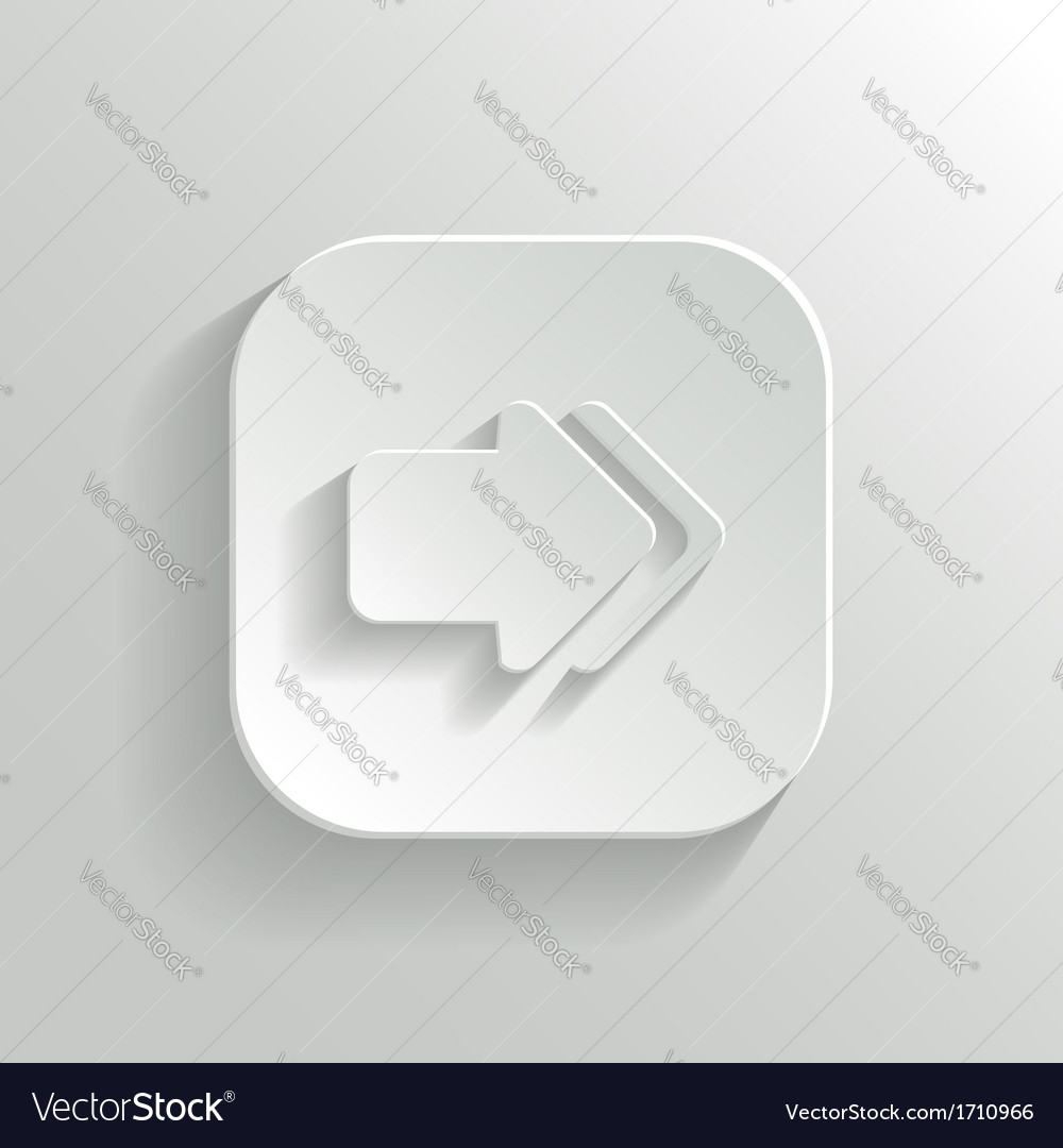 Arrow icon - white app button vector | Price: 1 Credit (USD $1)