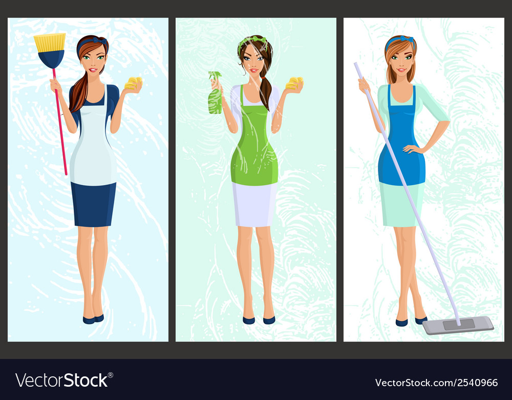 Banner set cleaner vector