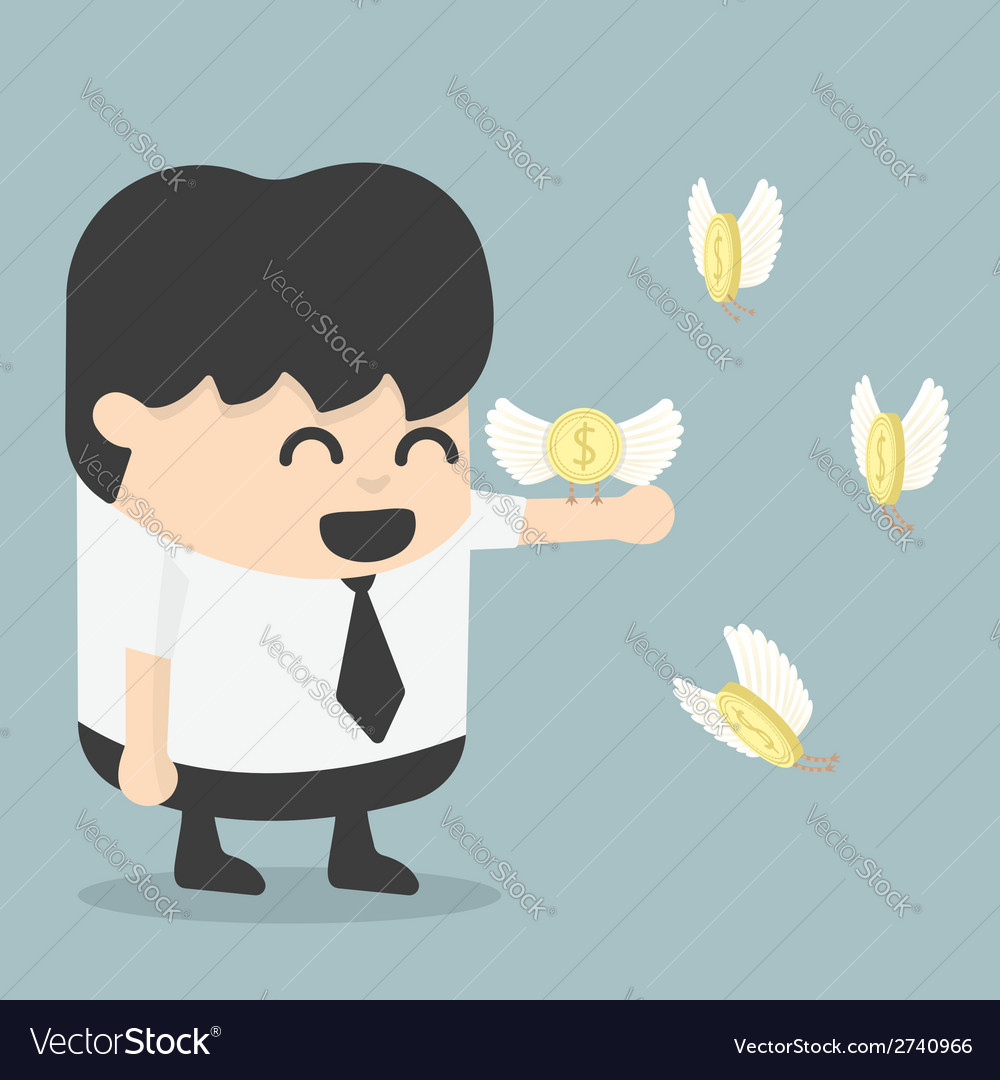 Businessman reach the money vector | Price: 1 Credit (USD $1)