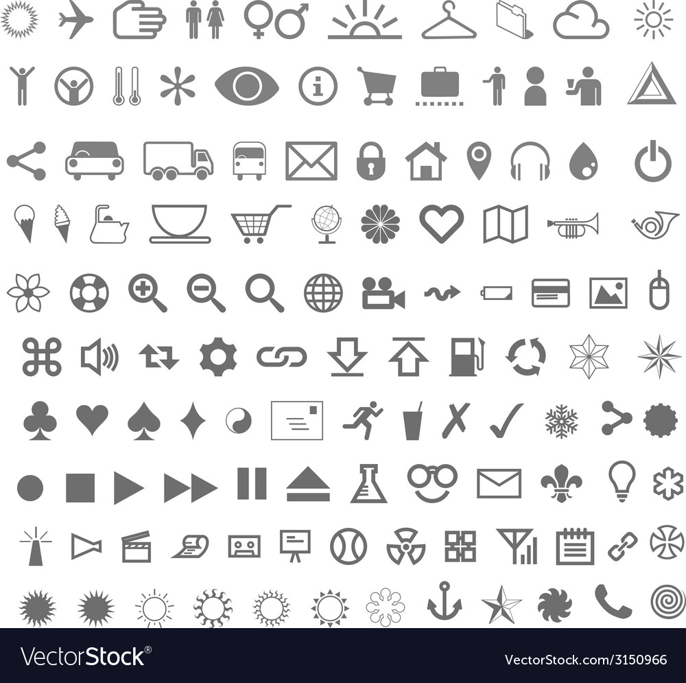 Complete icon set vector | Price: 1 Credit (USD $1)