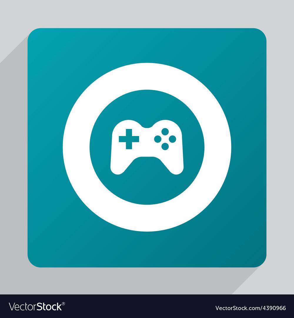 Flat joystick icon vector | Price: 1 Credit (USD $1)