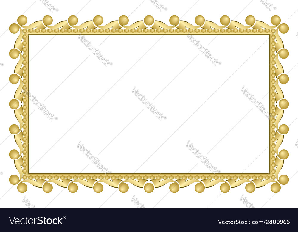 Gold elegant frame vector | Price: 1 Credit (USD $1)
