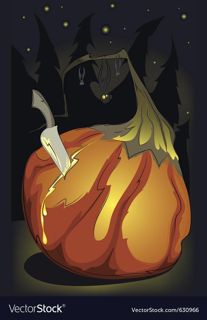 Halloween pumpking birth vector | Price: 1 Credit (USD $1)