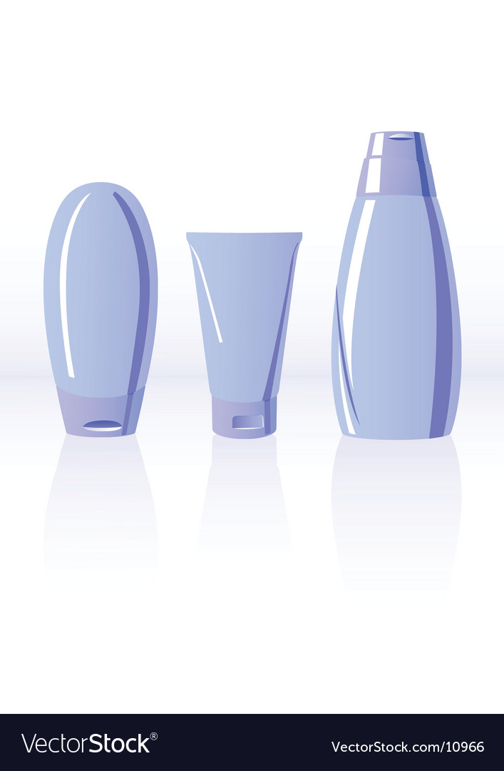 Illustration of shampoo bottles vector | Price: 1 Credit (USD $1)