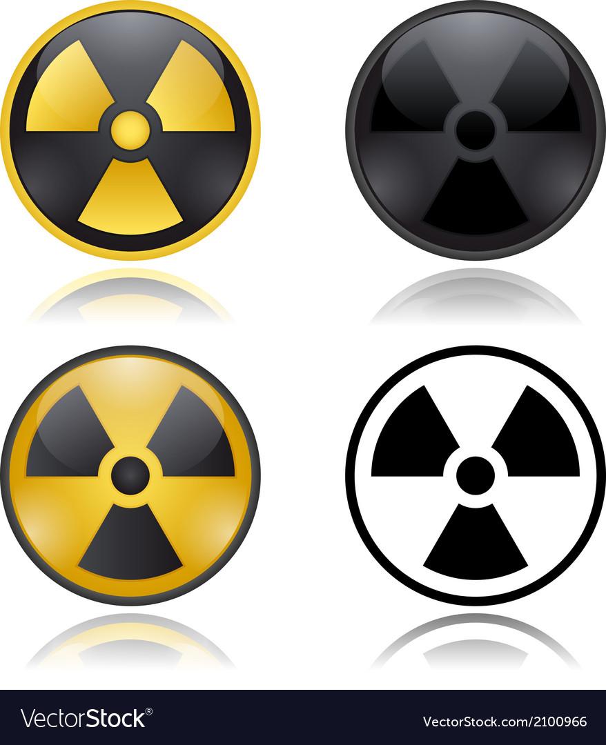 Radioactivity warning signs vector | Price: 1 Credit (USD $1)