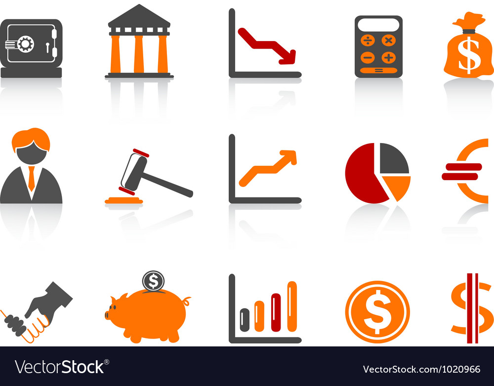 Simple bank iconscolor series vector | Price: 1 Credit (USD $1)
