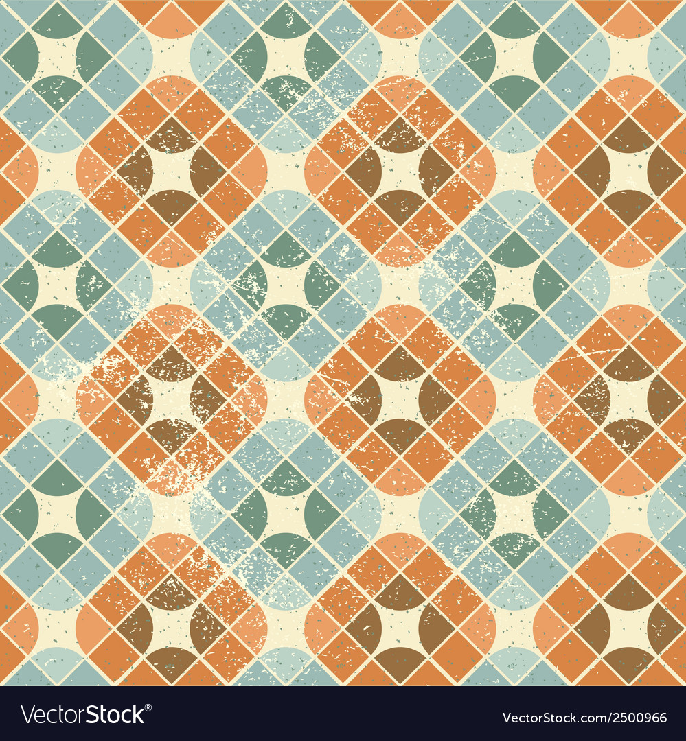 Vintage decorative seamless pattern geometric vector | Price: 1 Credit (USD $1)