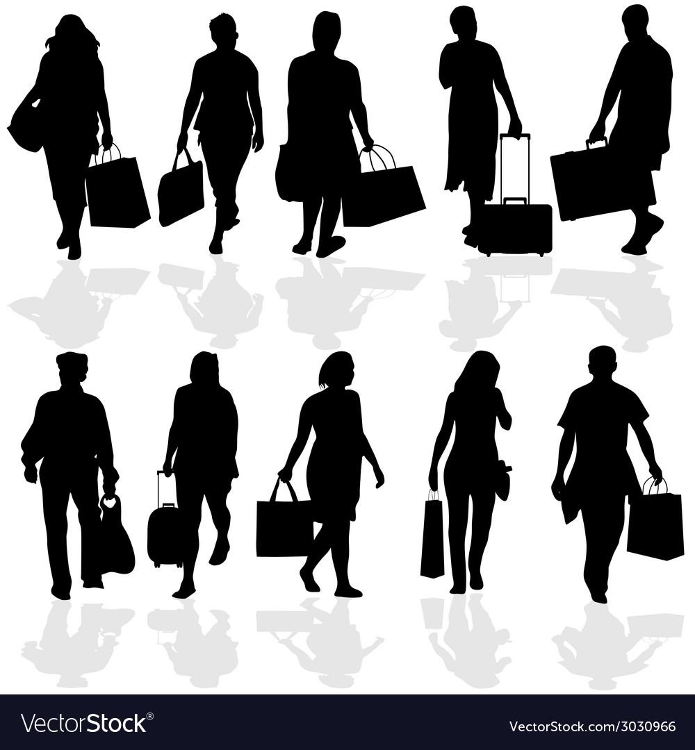 Women and men travelers vector | Price: 1 Credit (USD $1)