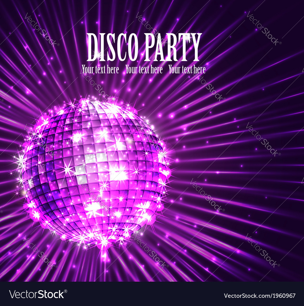 Background with disco ball vector | Price: 1 Credit (USD $1)