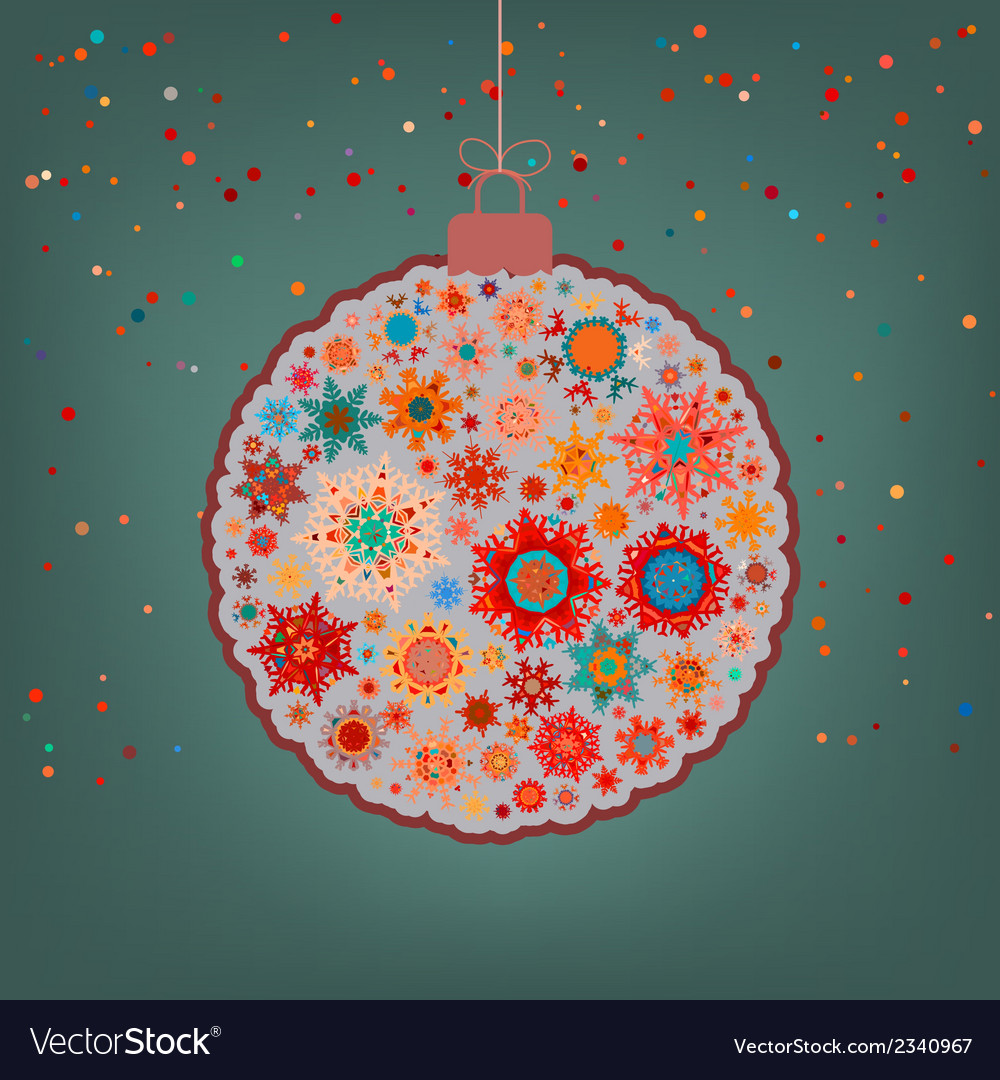 Fancy multicolor christmas ball eps 8 vector | Price: 1 Credit (USD $1)