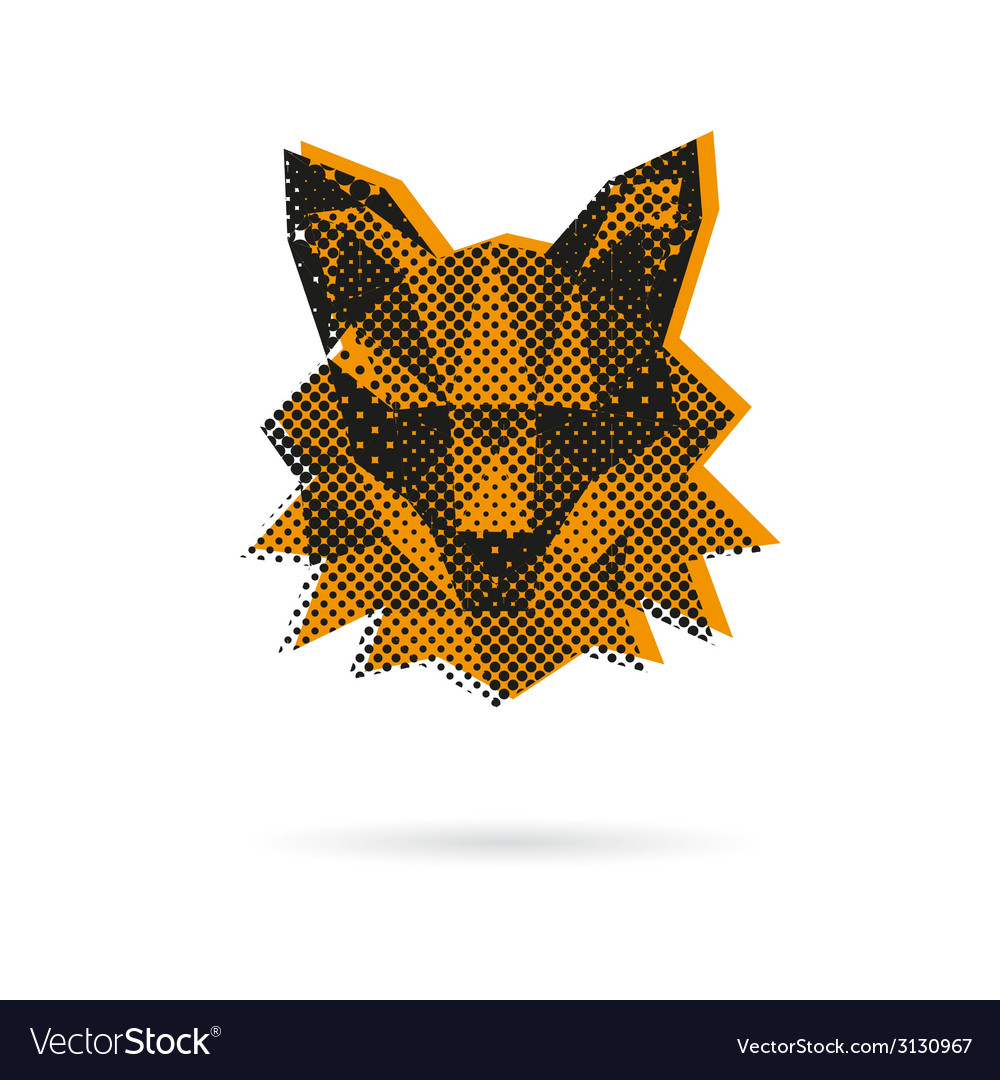 Fox head abstract isolated vector | Price: 1 Credit (USD $1)